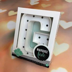 Heidi Swapp Marquee Love Letter G Kit